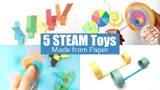 5 Paper STEAM Toys - Paper Crafts you can play with