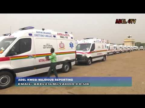 COMMISSIONING OF 307 AMBULANCES TO 275 CONSTITUENCIES IN GHANA BY PREZ AKUFO-ADDO_AKM