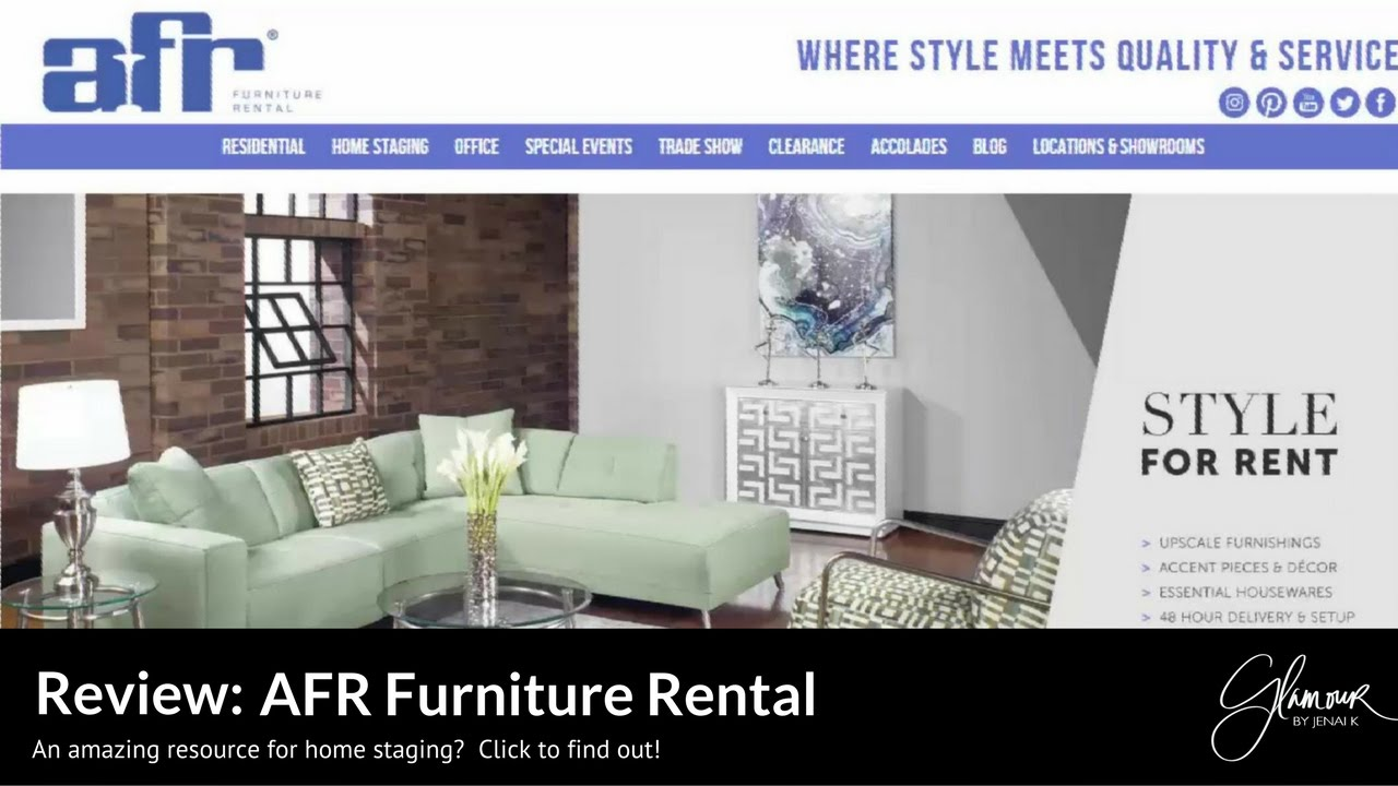 Glamour By Jenai K Review Afr Furniture Rental