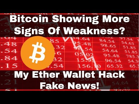 Crypto News | Bitcoin Showing More Signs Of Weakness? My Ether Wallet Hack Fake News