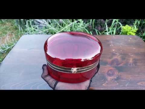 Antique Bohemian Moser Glass Or French Baccarat Ruby Red