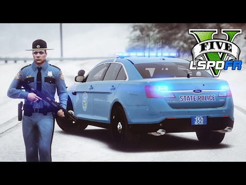 GTA 5 - LSPDFR Ep216 - Maine State Police in Snowy Mountains!!