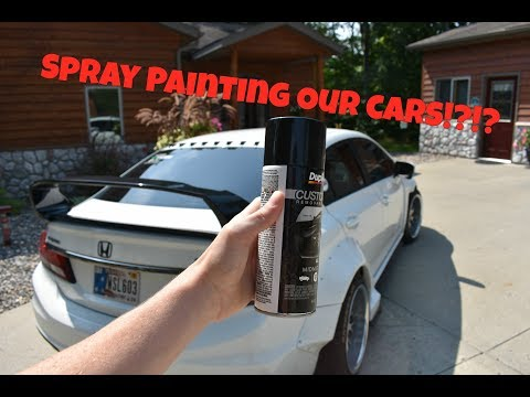 Spray Painting Our Cars!?!?!