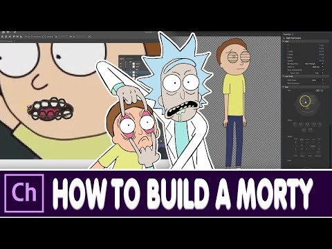 How to make a character from Rick and Morty in Character Animator