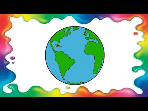 How To Draw Planet Earth Step By Step For Kids Youtube