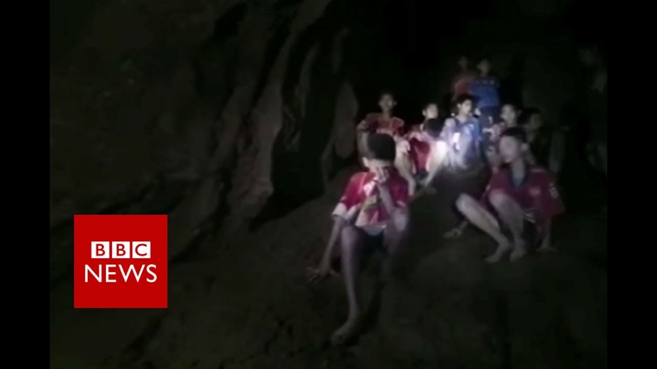 Thailand cave rescue: The moment divers find the boys - BBC News