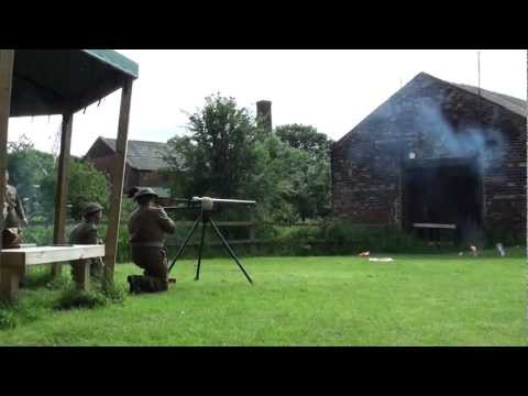 Home Guard firing the Northover Projector WW2 Artillery
