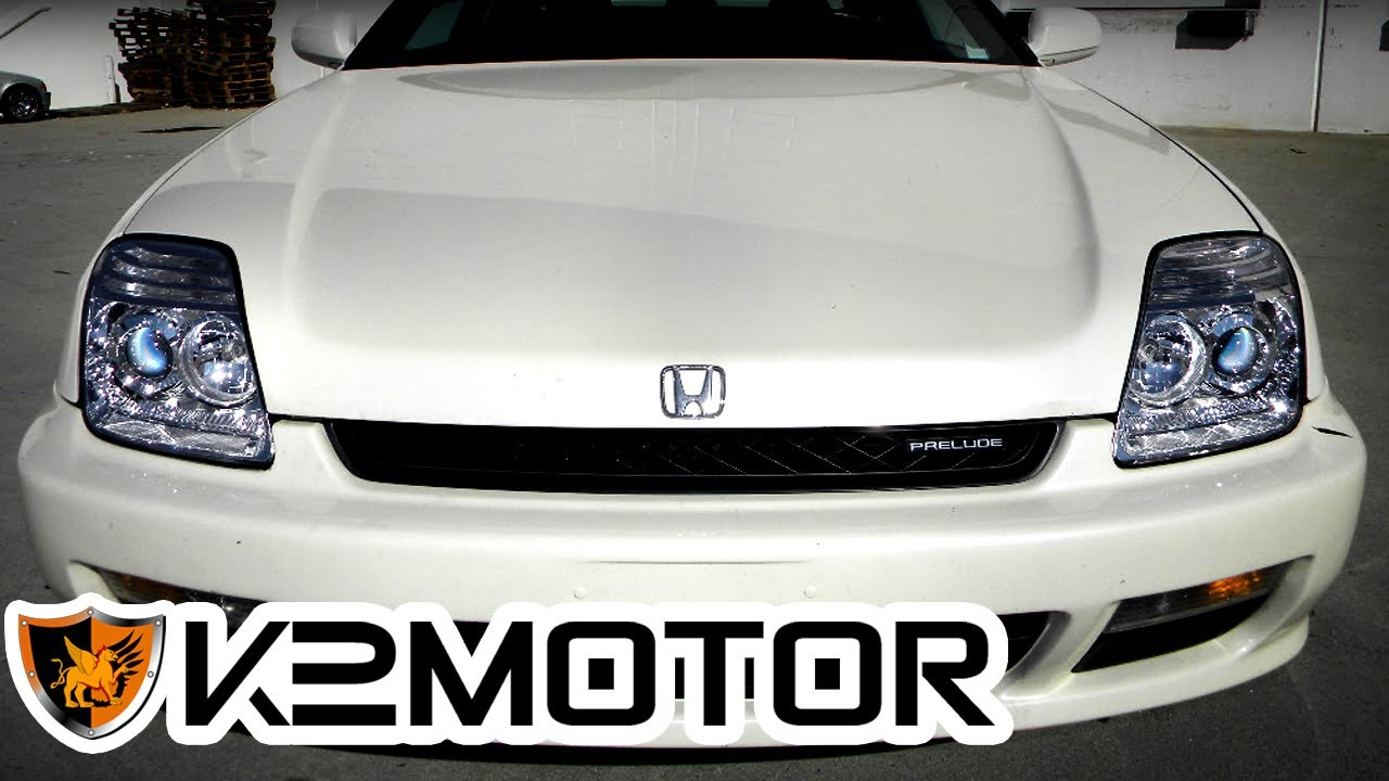K2 MOTOR INSTALLATION VIDEO  1997     2001       HONDA    PRELUDE HEADLIGHTS  YouTube