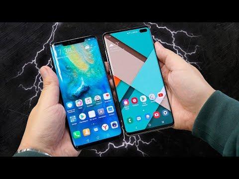 Samsung Galaxy S10+ против Huawei Mate 20 Pro: обзор-сравнение реверсивной беспроводной зарядки