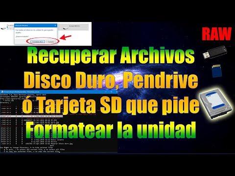 Recuperar Archivos De Disco Duro Pendrive O SD Que Pide Formatear La Unidad | Solución RAW TestDisk