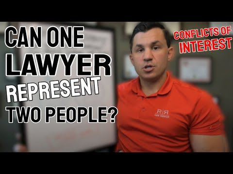 Can one lawyer represent two people? Conflicts of Interest - R&R Law Group
