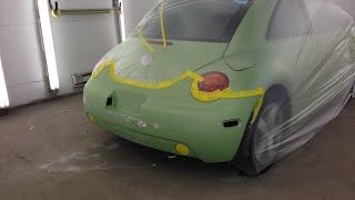 Быстрая подготовка и покраска авто (Volkswagen)