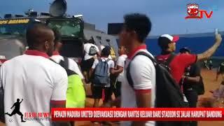 D3tik-D3tik Evakuasi Pemain Madura United Menggunakan Rantis Keluar Stadion Si Jalak Harupat Bandung