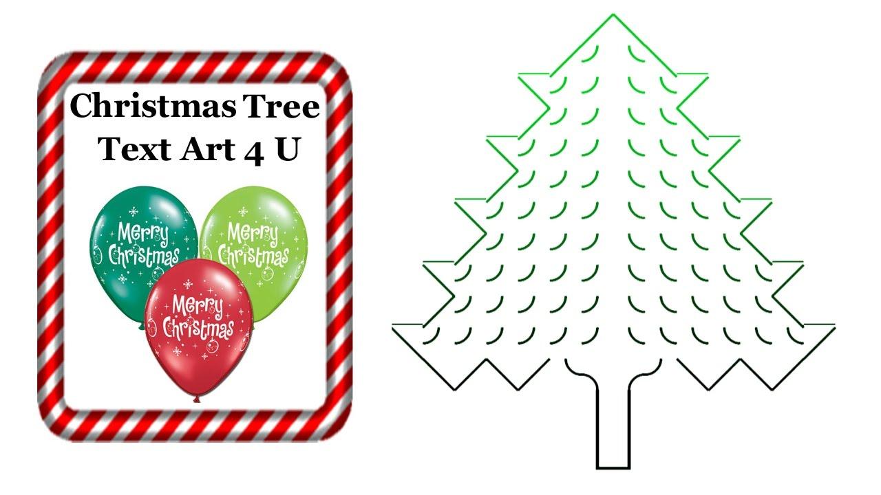Christmas Tree Ascii Text Art