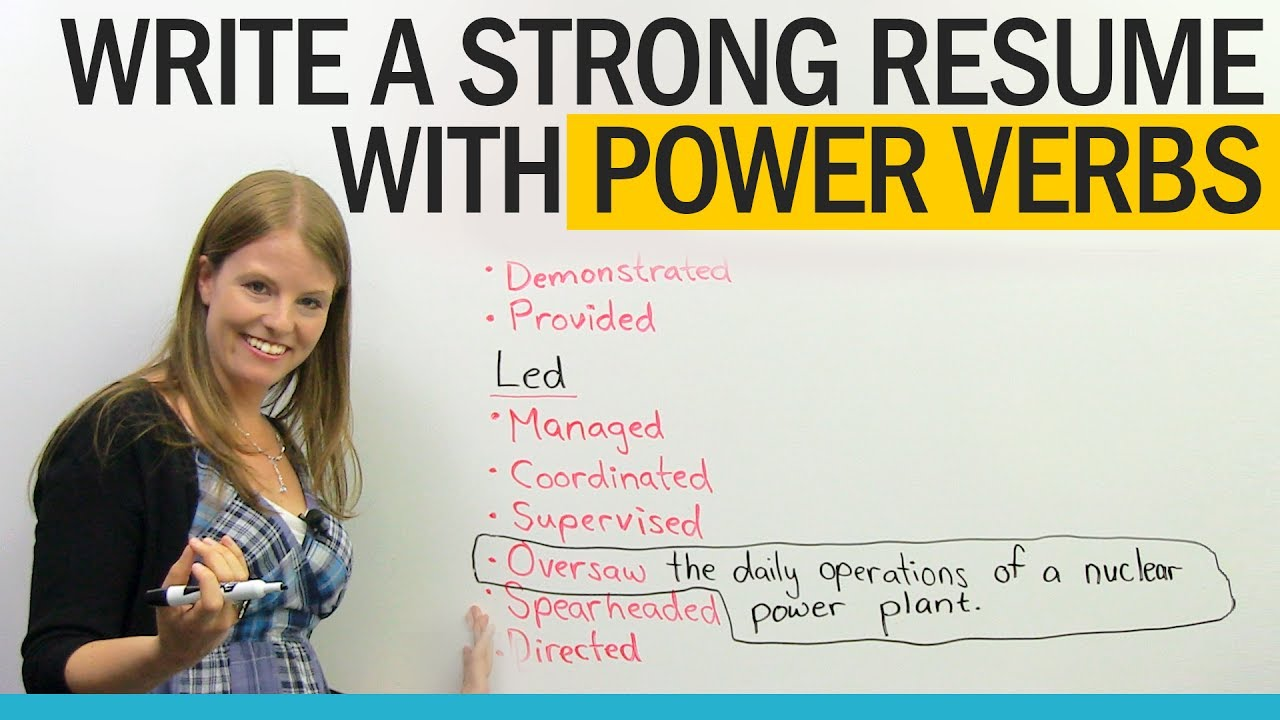 Get A Better Job: Power Verbs For Resume Writing  Resume Power Verbs