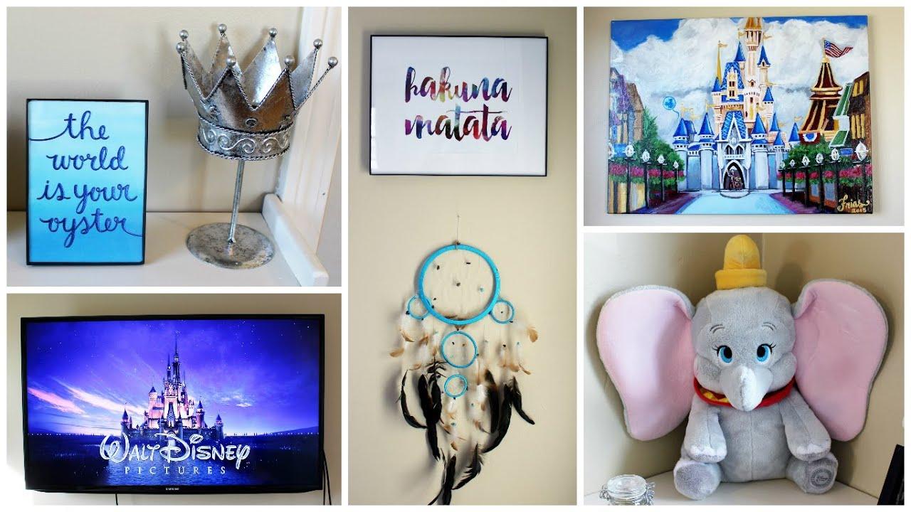 Disney themed bedroom - My Disney Themed Bedroom Tour 2016