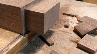 Woodworking Joints By Hand - The Architect's Table Part Four.