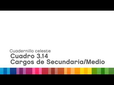 """<h3 class=""""list-group-item-title"""">Cuadernillo celeste – Cuadro 3.14, Cargos de Secundario/Medio</h3>"""