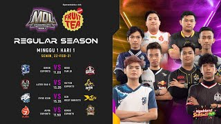 [Bahasa Indonesia] MDL ID S3 - Regular Season Week 1 Day 1