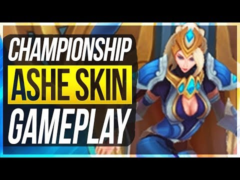 NEW BEST ASHE SKIN?! - Championship Ashe Gameplay - League of Legends