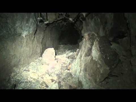 Deep underground in the Congress Mine, Howard adit