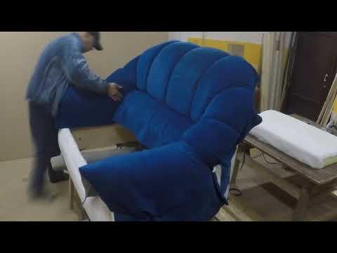 Как старый диван перетянуть в новую тканью своими руками ?