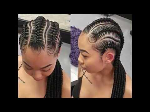 Smart Braids Hairstyles for African cute ladies - YouTube