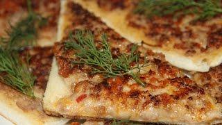 БУТЕРБРОДЫ С ФАРШЕМ НА СКОВОРОДЕ /  PAN FRIED GROUND MEAT SANDWICHES