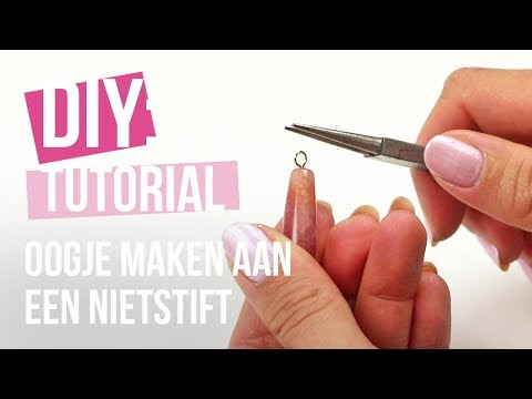 Sieraden maken: 2 manieren om een oogje te maken aan een nietstift ♡ DIY