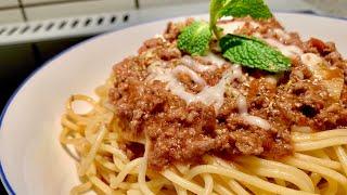 Mì spaghetti sốt bò bằm thơm ngon đúng điệu_Bếp Hoa