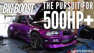 homepage tile video photo for TURNING UP THE BOOST ON MY E36 RACECAR - CRAZY LOUD TURBO!!