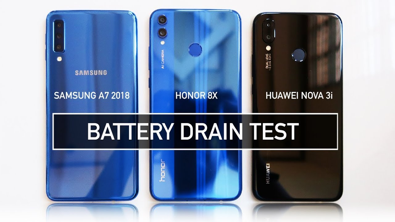 samsung a7 2018 honor 8x nova 3i battery drain test. Black Bedroom Furniture Sets. Home Design Ideas