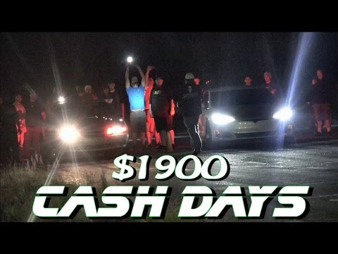 Gutted Tesla P100D Causes Problems - $1900 Cash Days Street Race