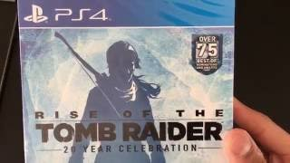 20 Year Celebration Rise Of The Tomb Raider Ps4: Tomb Raider Ps4 Unboxing