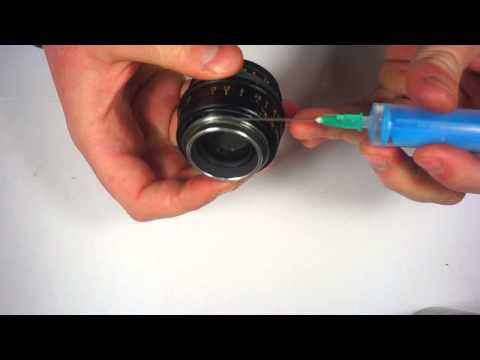 Jupiter-8 black m39 lens quick lubrication method