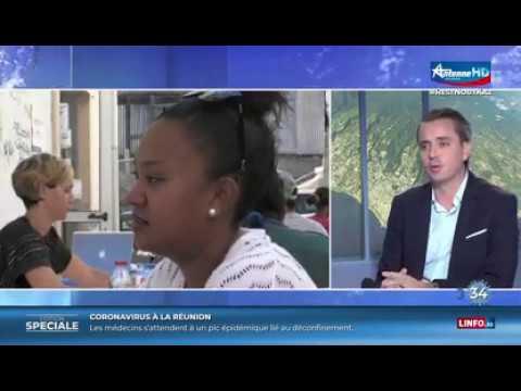 ITW de Vincent Le Baliner - Club Immobilier Ocean Indien - JT Antenne Réunion 19-04-2020