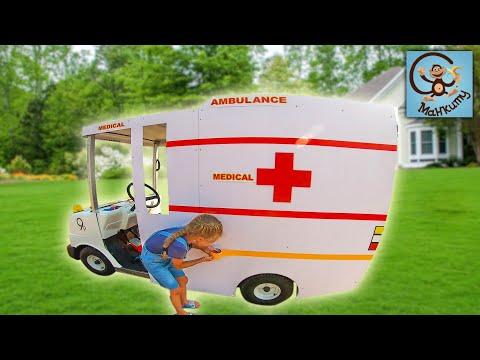 Дети и Машина. Диана и Папа делают машину скорой помощи. Серия вторая. МанкиТайм