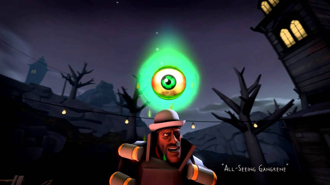 TF2 Workshop - Halloween 2015 Unusual - Pink Eye/Gangrene - YouTube