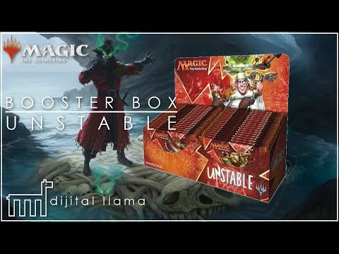 Unstable Booster Box Opening! So much fun stuff - Full art lands and tokens, contraptions!