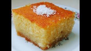 semolina cake with syrup revania me kokos