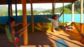 Аэро йога (йога в гамаке), arial yoga.