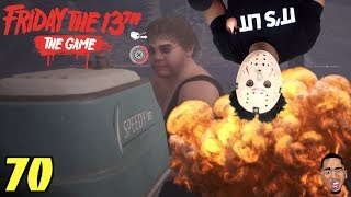 MY BOAT BLEW UP! Friday the 13th Gameplay #70