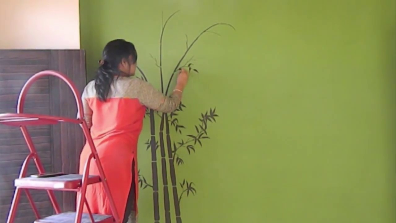 Plant Painting On Wall