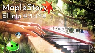 MapleStory Ellinia: When The Morning Comes - Relaxing Piano Cover|SLSMusic видео