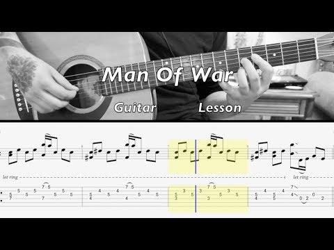 Radiohead - Man Of War GUITAR LESSON W/TABS