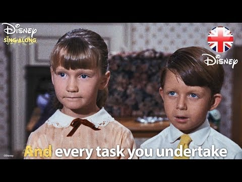 DISNEY SING-ALONGS | A Spoonful Of Sugar - Mary Poppins Lyric Video | Official Disney UK