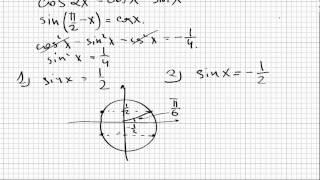 ЕГЭ по математике. Диагностический тест 25.09.12. Задача C1.