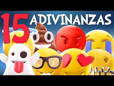 Adivinar Jugando con las 15 Adivinanzas de Emojis - Video para niños
