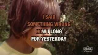 Yesterday (Ayer)- THE BEATLES with lyrics with lead vocal- KARAOKE