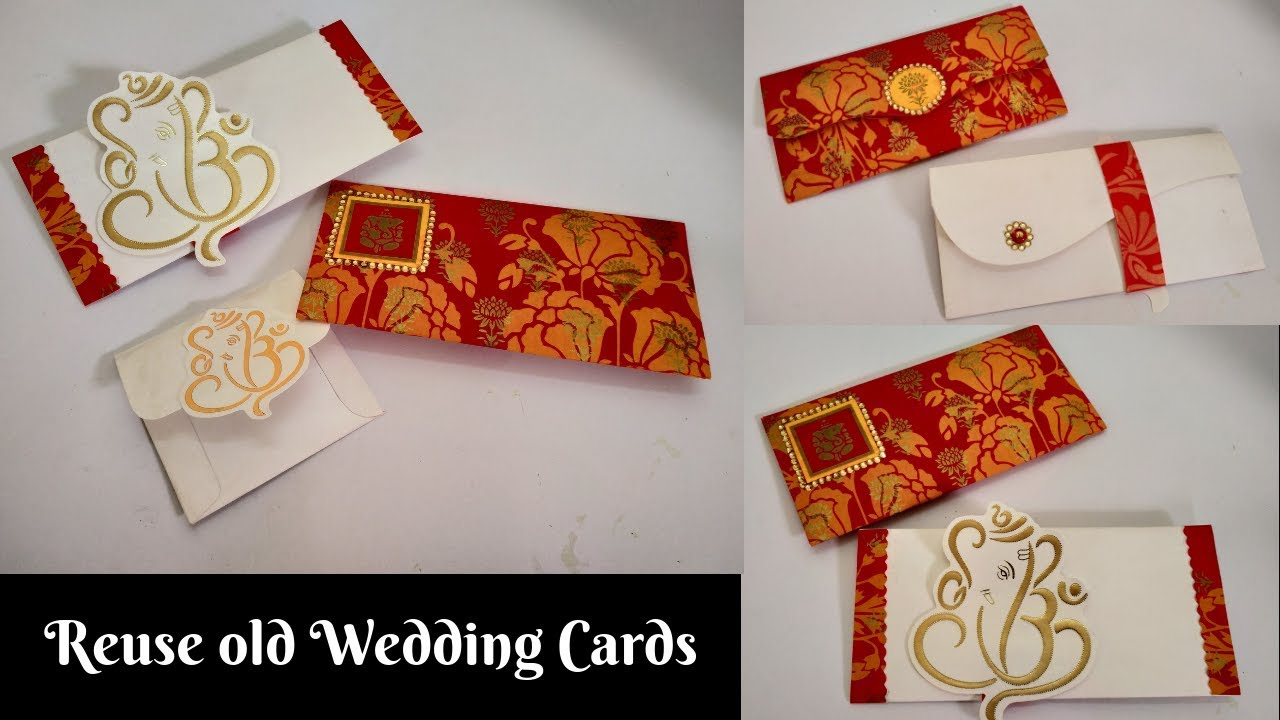 How to Make Shagun Envelope from Old Wedding Cards  Best out of Waste   Reuse Old Wedding Cards